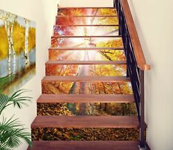 3d Sunshine Tree Na411 Stair Risers Decoration Photo Mural Decal Wallpaper Fay