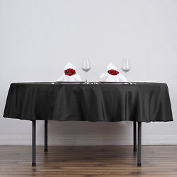 15 Black 90 Round Polyester Tablecloths Wedding Catering Restaurant Supplies