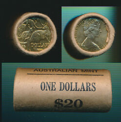 Australia 1984 First 1 Coin Mint Roll Of 20, Cat 55