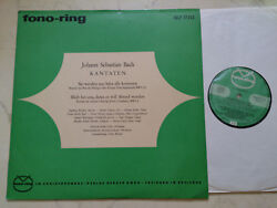 Bach Cantatas They Werden From Saba All Come Rare Fono-ring 60s Lp