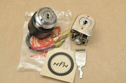 Nos Honda Ct90 Trail 90 K1-k3 Key Ignition Switch And Steering Lock Set 35010-077-