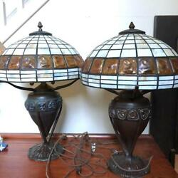 Pair Vintage Dale Lamps And Matching Chandelier - Rare Discontinued 3pc