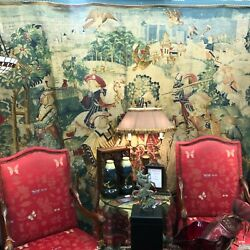 Large European French De Rambouillet Tapestry Made in France 99quot;T x 88quot;W