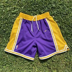 Los Angeles Lakers Nike Team Vintage Authentic Basketball Shorts Men's 36