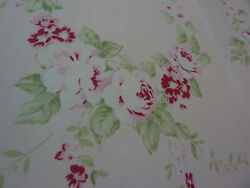 Yuwa Antique French Roses Collection Rose Garlands on Pale Pink Cotton Fabric