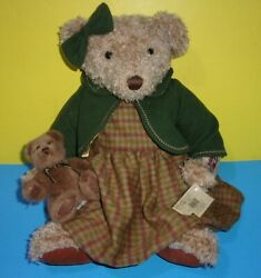 Russ Vintage Collection Teddy Bear Lady Elspeth And Bear Cub Baby Bear 18