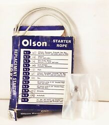 Olson No.11 Rewind Starter Rope Cable Nos Vtg Mcculloch Outboard Marine Motor