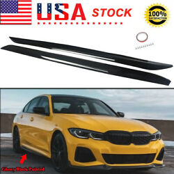 M Performance Black Painted Side Skirts For 2019-2021 Bmw 3-series G20 G28 M340i