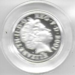 Great Britain 2001 One Pound Piedfort Sterling Silver Coin Gem Proof And Cased
