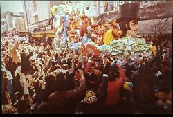 1985 Mardi Gras Unique Poster Size Photograph Canal Street New Orleans Carnival