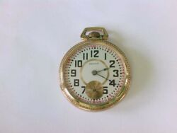 Rarer 1890and039s Elgin Of 18 S.7 J Pocket Watch W/ A Nice Railroad Conversion Dial.