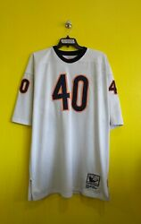 🏈chicago Bears 40 Gale Sayers Mitchell And Ness Nfl Jersey Mens - 56 Stained