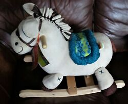 B Toys Wooden Rocking Plush Horse Rodeo Rockers - Banjo - New With Tags