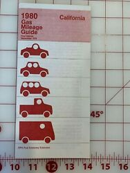 1980 California Gas Mileage Guide Owners Manual 31 Pages