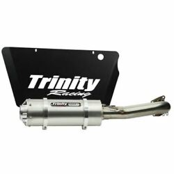 Trinity Racing Single Stinger Exhaust - Brushed Tr-4171f