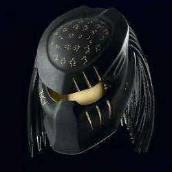 Top Predator Helmet Custom Gold Crack And Text Dot And Snell Certified