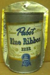 Pabst Blue Ribbon Beer Flat Top Can Made Into A Flower And Pencil Holder Budweiser