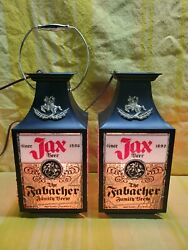 Vintage Jax Beer Sign Lighted Sconce Lone Star Pearl Dixie Redtop Iroquois Blatz
