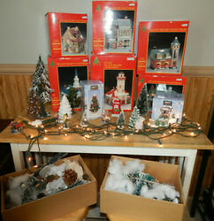 Share The Joy Christmas Village Sq. Collectibles 6 Village Houses And Accessories