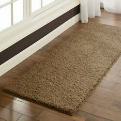 Shag Runner Rug 2' X 6' Multiple Colors Machine Washable Stain Fade Resistant