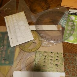 Vintage 70s Drafting Templates Mixed Lot Of 21