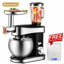 Zhoutu 5.5l Planetary Mixerelectric Stand Mixer With Stainless Steel Bowl