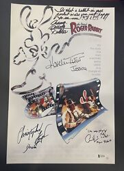 Who Framed Roger Rabbit Cast Signed X3 Autographed 12x18 Photo Lloyd Bas Y62998