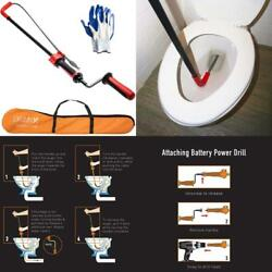 Drainx 6 Foot Toilet Auger | Use Manually Or With Drill, Closet Auger Drain Plum