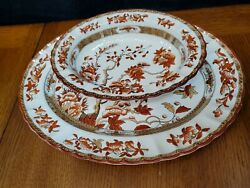 Spode Copeland India Indian Tree 15 Platter, 10.5 Oval Bowl Old Stamp Good Con