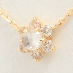 Agete Agete Diamond Necklace 18k Yellow Gold 0.10ct Christmas 2018 Limited