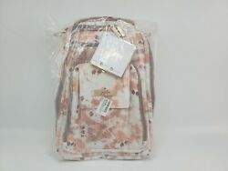 JuJuBe Be Right Back Travel Backpack Diaper Bag New TDF Pink White $116.00
