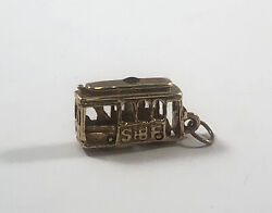 Hammerman Brothers 14k Yellow Gold Cable Car Trolley Charm San Francisco 3.9g
