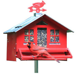Perky-pet Red Squirrel-be-gone Ii Country Style Wild Bird Feeder - 8 Lb