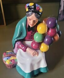 Vintage 7 Royal Doulton The Old Balloon Seller Lady Character Figurine Hn 1315