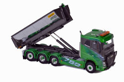 For Volvo Fh4 Sleeper Cab 8x4 Palfinger Hooklift Container Truck 1/50 Model