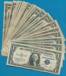 25-1.00 1935 Mixed Series Silver Certificates Average Circulated Dealers Lot