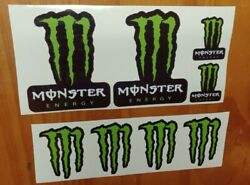8 Monster Energy Stickers 3sizes