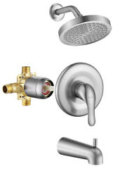 Gabrylly Shower Tub Kit Tub And Shower Faucet Set Valve Included With 6-inch Bn