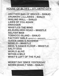 Flogging Molly Setlist House Of Blues At Showboat Atlantic City Nj Mid 2000and039s