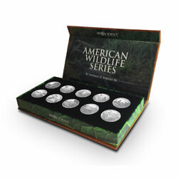American Wildlife Series - 10 1 Oz Silver Round Collection - Thomas D. Rogers