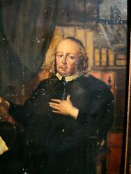 Rare Antique Oil Painting On Oak Panel Attributed To Evert Collier 1642-1708
