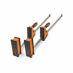Bora 50 Parallel Clamp Set 2 Pack Of Woodworking Clamps With Rock-solid Ev...