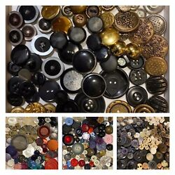Lot Vintage Buttons 10 Lbs Mixed Colors Sizes And Types Crafts Sewing