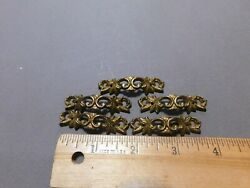 Lot Of 5 Vintage Antique Brass Drawer Pulls Toy Furniture Jewelry Boxes Fs