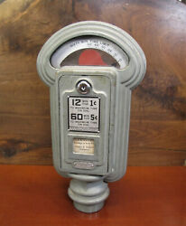 Outstanding Antique Early Duncan Miller 1 And 5 Cent Working Vtg Parking Meter.