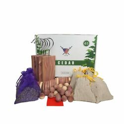 Moth Repellant for Clothes 65 Pack Cedar Hangers Rings Balls Sachets a... $45.04