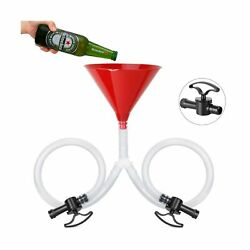 Farielyn-x Beer Bong Funnel With Valve - Newest Valve Design Extra Long 2.5 F...
