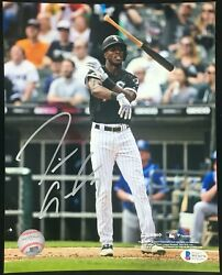 Tim Anderson Chicago White Sox Signed Autographed 8x10 Bat Flip Photo Coa Silver