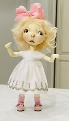 White Boneka Smocked Embroidered Dress For 10 Connie Lowe Sprocket Dolls