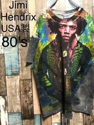 Made In Usa 80s Jimi Hendrix T-shirt Mosquito Men Size Xl Tops Short Sleeves